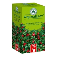Брусники листья пачка, 50 г