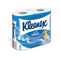 Бумага туалетная Клинекс Деликат Уайт двухслойная белая 4 шт упак.