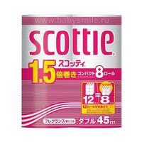 Бумага туалетная NP Crecia Scottie 1.5 двухслойная (45м) 8шт