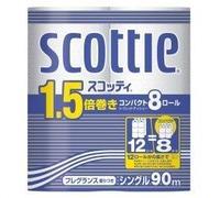 Бумага туалетная NP Crecia Scottie 1.5 однослойная (90м) 8шт