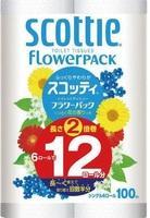 Бумага туалетная NP Crecia Scottie FlowerPACK 2 однослойная (100м) 12шт