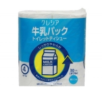 Бумага туалетная NP из перераб. Целлюлозы Crecia Scottie с легким ароматом двухслойная (30м) 4шт