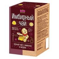 Чай имбирный Bio National черный с медом и лимоном фильтропакетики 20 шт.