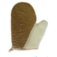 Чеширка Мочалка №51 рукавица,лён 21.5X18Х24