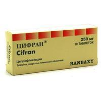 Цифран таблетки 250 мг, 10 шт.
