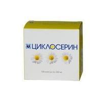 Циклосерин капсулы 250 мг, 100 шт.