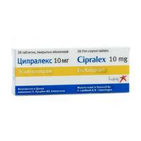 Ципралекс таблетки 10 мг, 28 шт.