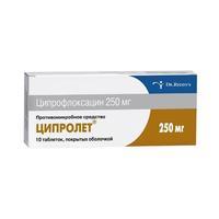 Ципролет таблетки покрыт.об. 250 мг 10 шт.