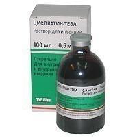 Цисплатин-Тева конц. для р-ра для инфузий 0,5 мг/мл флаконы 100 мл