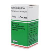Цисплатин-Тева конц. для р-ра для инфузий 0,5 мг/мл флаконы 20 мл