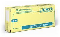 Циталопрам таблетки 40 мг, 30 шт.