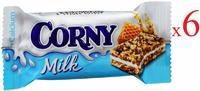 Corny Milk Батончик злаковый с молочным наполнителем, медом 30г