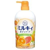 Cow Увлажняющее молочное жидкое мыло для тела (свежий цитрусовый аромат) 550мл