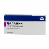 Далацин свечи вагинальные 100 мг, 3 шт.