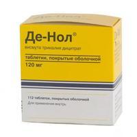 Де-нол таблетки 120 мг, 112 шт.