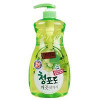 Дезодорирующее Средство для мытья посуды,овощей и фруктов в холодной воде Mukunghwa Зеленый виноград (Премиальное) МУ 1.2л