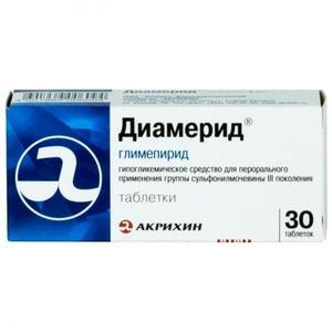 Диамерид таблетки 1 мг, 30 шт.