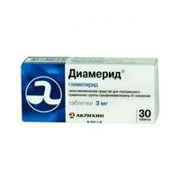 Диамерид таблетки 3 мг, 30 шт.