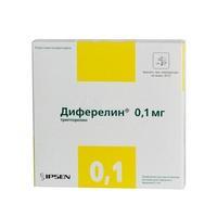 Диферелин флаконы 0.1 мг, 7 шт.