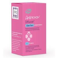 Дифлюкан порошок д/приг.суспензии д/приема внутрь 50 мг/5 мл 35 мл флакон 1 шт.