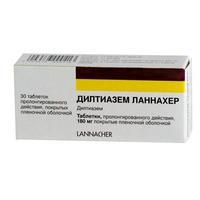 Дилтиазем Ланнахер таблетки покрыт.плен.об. пролонг.180 мг 30 шт.