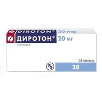 Диротон таблетки 20 мг, 28 шт.