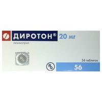 Диротон таблетки 20 мг, 56 шт.