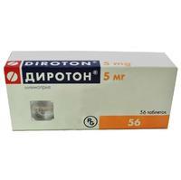 Диротон таблетки 5 мг, 56 шт.
