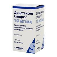 Доцетаксел Сандоз конц. для р-ра для инфузий 10 мг/мл 16мл флак.1шт.