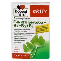 Доппельгерц Актив Гинкго Билоба+витамины группы В таблетки, 30 шт.