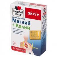 Доппельгерц актив магний+калий таблетки, 30 шт.