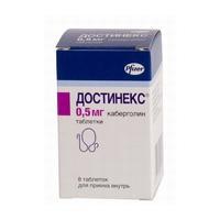 Достинекс таблетки 0.5 мг, 8 шт.