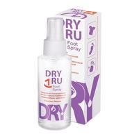 Драй ру (DRY RU) Фут спрей для ног от потооделения с пролонгированным антимикробным действием 100мл