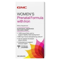 ДжиЭнСи (GNC) Формула с железом д/берем. женщин (Women`s Prenatal Formula With Iron) табл.120 шт. упак.
