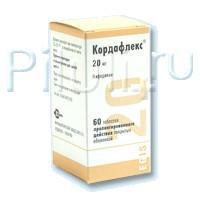 Кордафлекс таблетки ретард 20 мг, 60 шт.