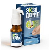 Экзодерил р-р для наруж.применения 1% 10 мл