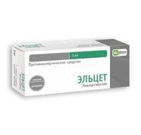 Эльцет таблетки покрыт.плен.об. 5 мг 14 шт