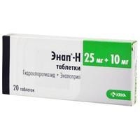 Энап-h таблетки 10/25 мг, 20 шт.