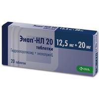 Энап-hl таблетки 20/12,5 мг, 20 шт.