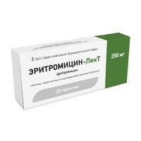 Эритромицин-ЛекТ таблетки 250 мг 20 шт.