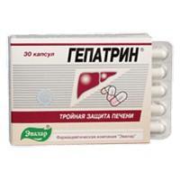 Гепатрин капсулы 250 мг, 30 шт.