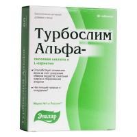 Турбослим альфа-липоевая кислота и l-карнитин таблетки, 60 шт