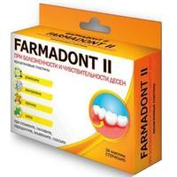 Farmadont II Пластины коллагеновые c ромашкой, валерианой, арникой, мятой при болезненности и чувствительности десен 24 шт.