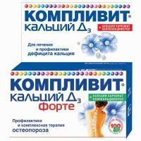 Компливит кальций д3 форте таблетки жевательные мятные, 100 шт.