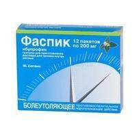 Фаспик гранулы для р-ра для приема внутрь 200 мг мята саше 12 шт.