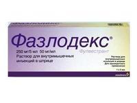 Фазлодекс раствор для в/мыш. введ. 250 мг/5 мл 5 мл шприц 2 шт.