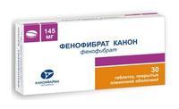 Фенофибрат Канон таблетки покрыт.плен.об. 145 мг 30 шт.