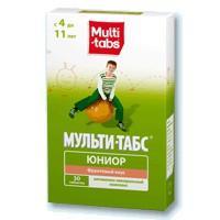 Мульти-табс юниор таблетки жевательные, 30 шт., фрукты