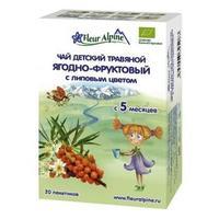 Fleur Alpine Organic чай травяной Ягодно-фруктовый с липовым цветом с 5 мес. 30 г