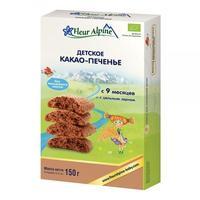 Fleur Alpine Organic печенье детское Какао с 9 мес. 150 г